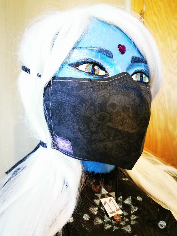 11 - Dark Skull Damask