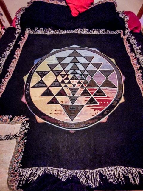 sri yantra throw blanket small style 1