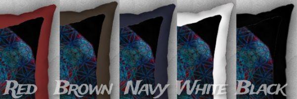 Pillow back colour options